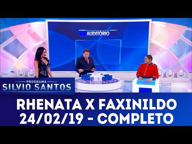 Jogo das 3 Pistas - Rhenata Schmidt X Faxinildo | Programa Silvio Santos (24/02/19)