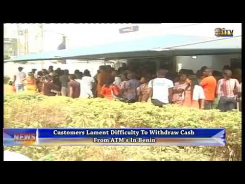 Customers lament difficulty to withdraw cash from ATM's in Benin