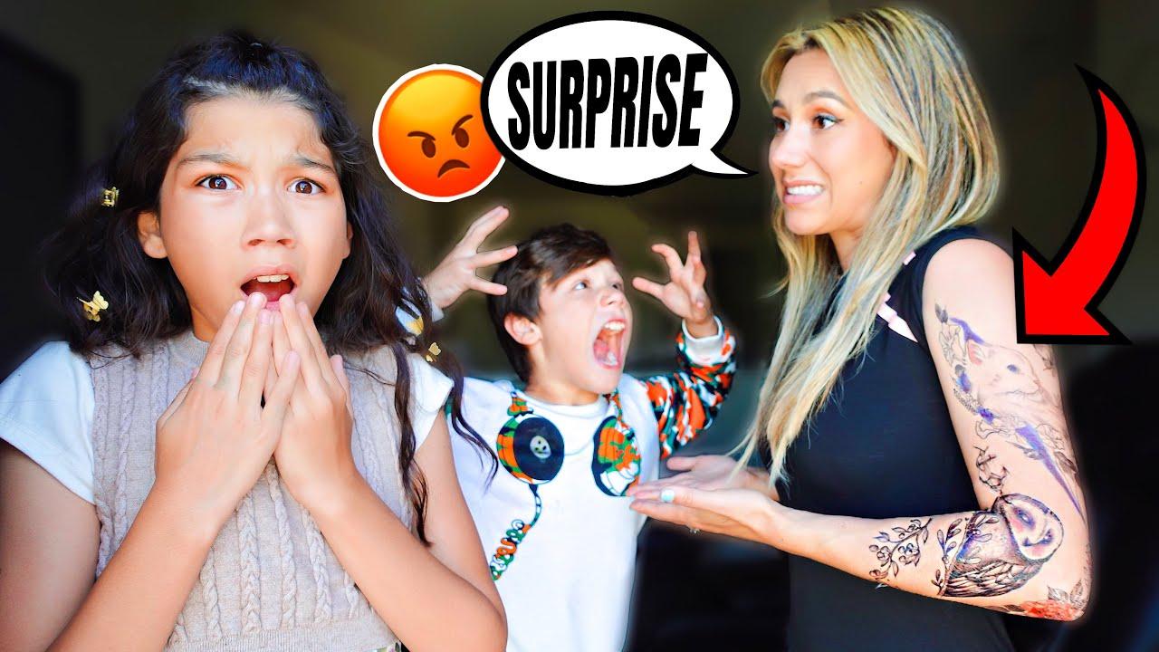 Esthalla Gets a TATTOO!!! (KIDS FREAK OUT) | Familia Diamond