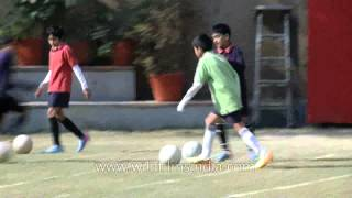 Football training for Shri Ram School Vasant Vihar students