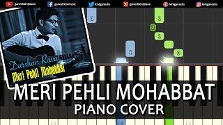 Meri Pehli Mohabbat Darshan Raval|Hindi Song|Piano Chords Tutorial Instrumental Karaoke By Ganesh
