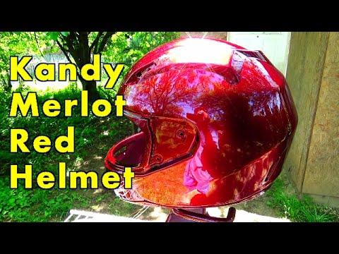 Motorcycle Helmet Painted Candy Merlot Red Allkandy Wet Plus Kandy Paint Brandywine