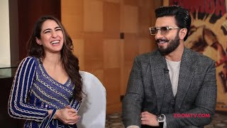 Simmba stars Ranveer Singh and Sara Ali Khan play fun game 39Who39s most likely to39