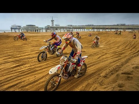 Mass Dirt Bike Racing on Hague Beach | Red Bull Knock Out