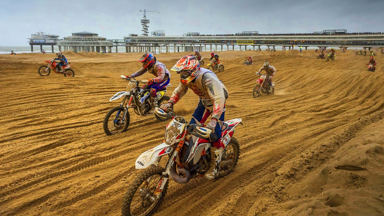 Mass Dirt Bike Racing on Hague Beach | Red Bull Knock Out ...