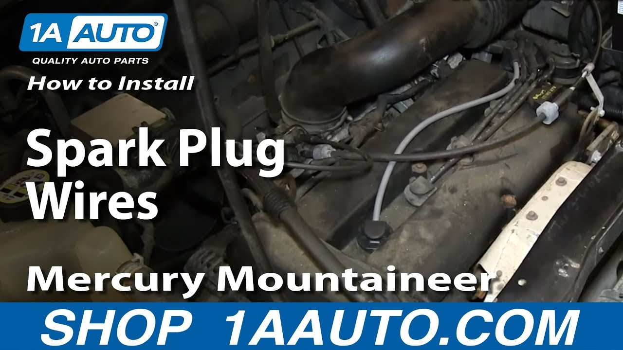 How To Install Replace Spark Plug Wires 2001 07 20l Ford Escape 2008 Yamaha Stratoliner Ignition Wiring Mercury Mountaineer Youtube