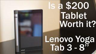 Is a Tablet Under $200 Worth it? Lenovo Yoga Tab 3 - 8