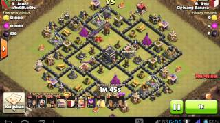 Clash of Clans war attack Th9 GoHog Combine Gempa