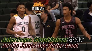 Josiah James and Porter-Gaud Outlast Jalen Leque and Christ School! Highlights!