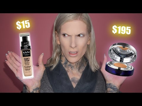 $15.00 NYX FOUNDATION VS. $195 CAVIER FOUNDATION