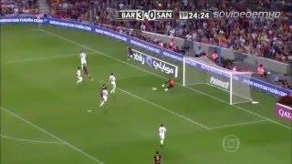 Barcelona 8 x 0 Santos.. Santos leva chocolate do Barça.  Troféu Joan Gamper   02 08 2013   Globo HD
