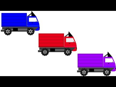 Learn Colors With Truck For Children || Cartoon Video For kids || Nursery Rhymes thumbnail
