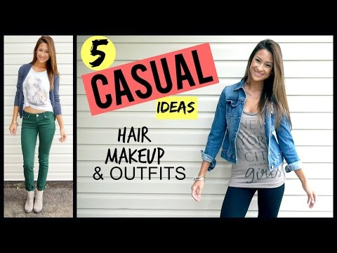 Everyday/Casual Makeup, Hair, & Outfit Ideas