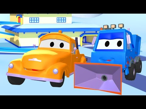 Tom the Tow Truck and the Snowplow in Car City | Trucks cartoon for kids