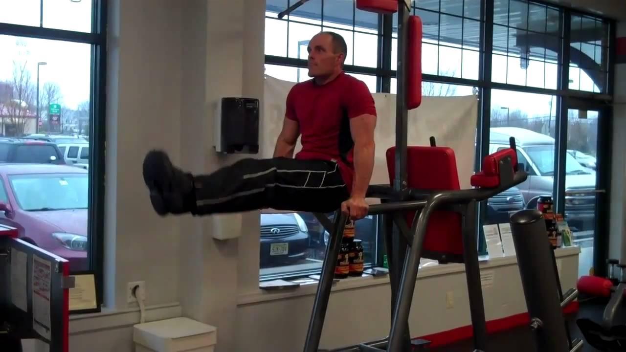 Hanging Leg Raise With Straps Dip Bar Knee to Leg Ra...