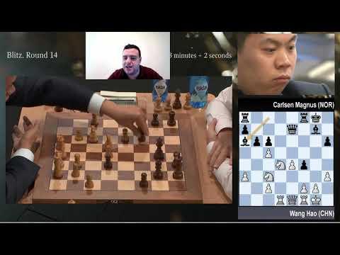 Wang Hao vs Carlsen (Ronda 14 Mundial de Blitz)