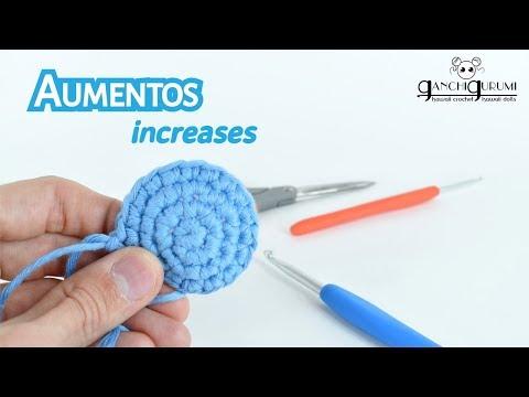 Curso de amigurumi (8) - Cómo hacer un aumento en crochet