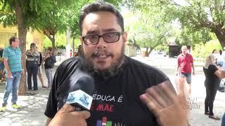 Professor Paulo Draigo e Aristides manifestação dos professores na Câmara de vereadores