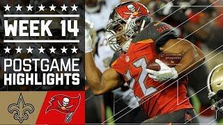 Saints vs. Buccaneers | NFL Week 14 Game Highlights