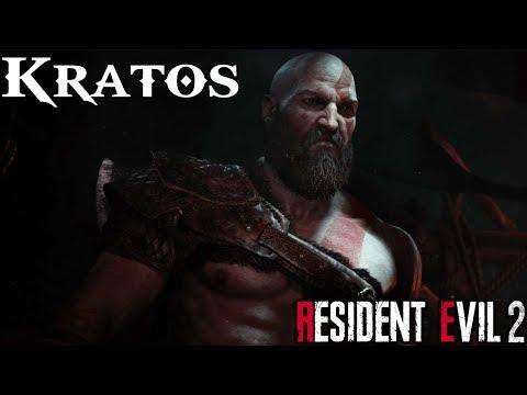 kratos-the-god-of-war---resident-evil-2-remake-mod
