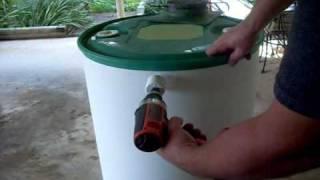 Construction of a Hidden Rainwater Collector
