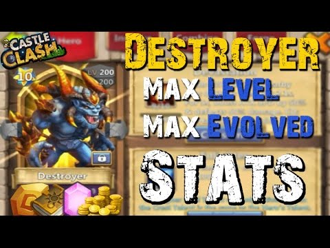 Castle Clash Max Leveled/Evolved Destroyer (Stats) LVL 200