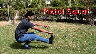 How to Pistol Squat in Hindi - Easy Beginner Progression Steps - Vikas Choudhary