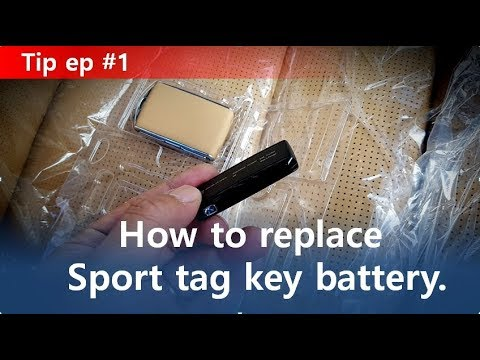 Volvo Sport Key Tag Battery Replacement