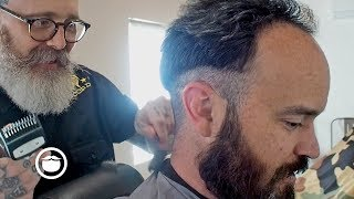 Awesome Haircut for High Hairline with Beard Trim | Beardbrand Studio