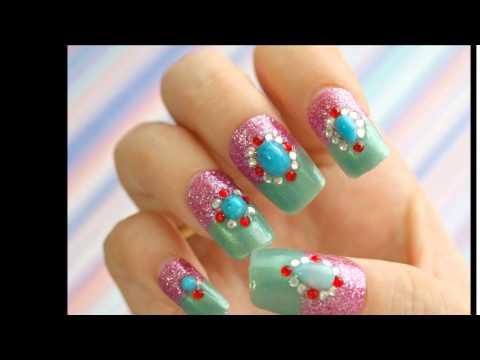 Маникюр с блестками фото Дизайн ногтей