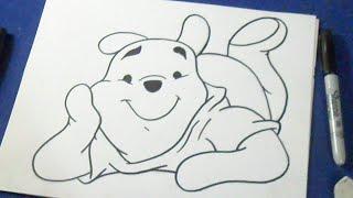 como desenhar Pooh Winnie