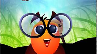 Colorful game - Larva adventure flying story - cartoon Animation For children kid