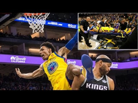 Patrick McCaw Scary Injury Over Vince Carter