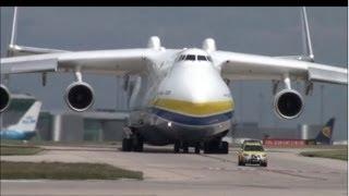 AMAZING ANTONOV An 225 MRIYA - Manchester Airport 26/6/13 - meets A380 and 787 dreamliner