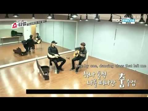 [EXO] Lay and chanyeol sad guitar lesson xD