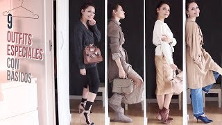 Cómo hacer OUTFITS ESPECIALES CON PRENDAS BÁSICAS | How to make special outfits with basic items