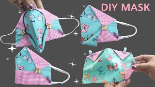 Como hacer DIY Breathable Face Mask Sewing Tutorial 3D Mask Easy Pattern Mascara 3D
