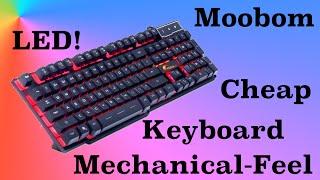 Moobom DB-A8 Mechanical Feel Gaming Keyboard Review