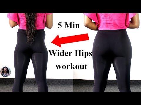 5 MINUTES WIDER HIPS WORKOUT(NO EQUIPMENT REQUIRED) Hip Dips Fix - ABIGAIL EKWEGHI