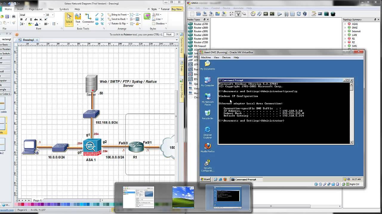 ASA Firewall - Basic Lab config on GNS3