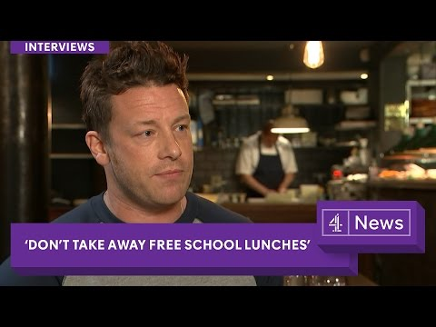 Jamie Oliver: 'Don't take free school lunches away from kids' (interview)