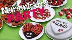Marienkäfer-Geburtstagsfeier   Vorbereitungen und Deko   Clara wird 1