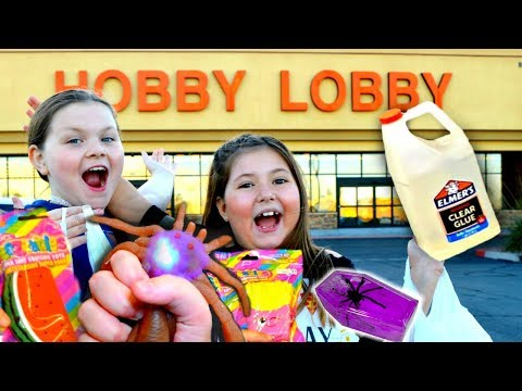 HALLOWEEN SLIME SUPPLIES & NEW SQUISHIES AT HOBBY LOBBY & NEW SQUISHIES AT MICHAELS! ~VLOG!