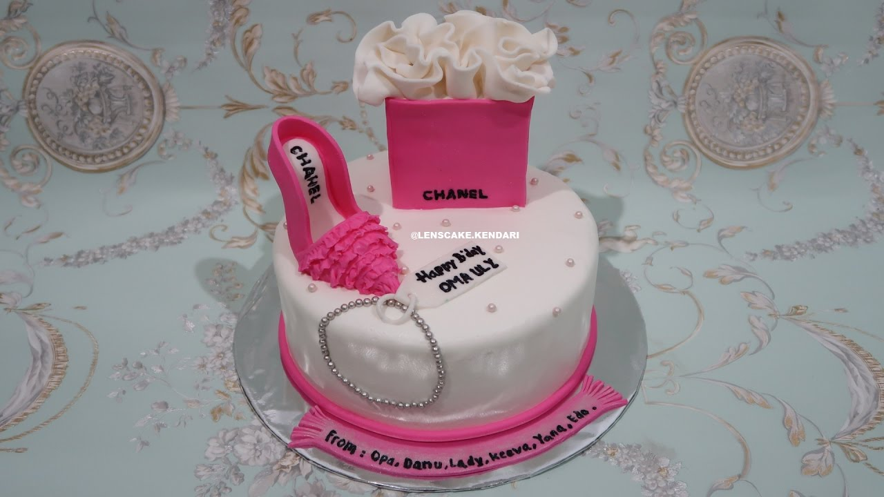 Chanel Cake Tutorial Bag And Shoes How To Make Birthday Cake Cara