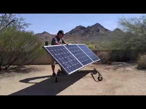 Grid Eraser Portable Solar Panel Array Cart
