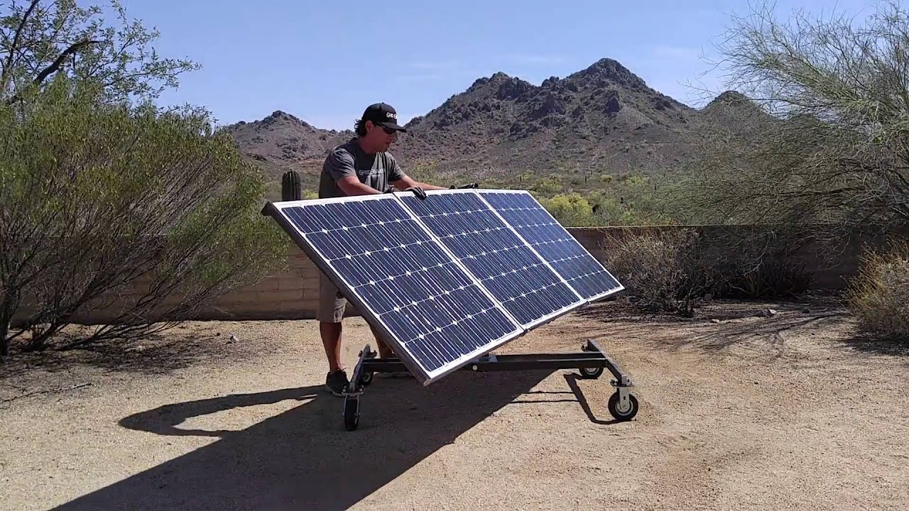Grid Eraser Portable Solar Panel Array Cart Youtube