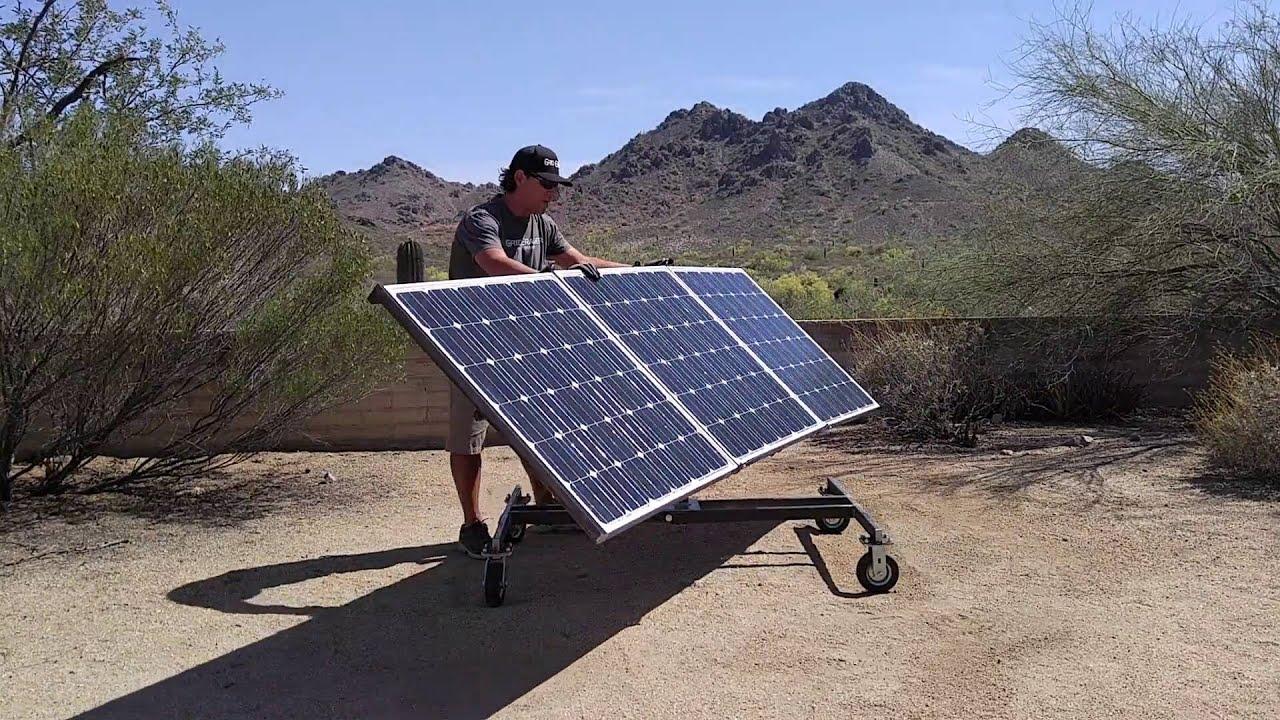 Grid Eraser Portable Solar Panel Array Cart Youtube
