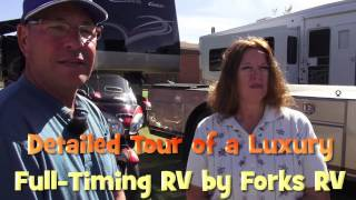 Private Tour of a Luxury Custom Full Timing RV Hauler Rig by Forks RV