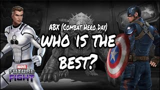 Mister Fantastic (Future Foundation) Vs. Captain America (Avengers Endgame) - Marvel Future Fight