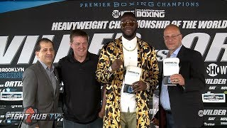 DEONTAY WILDER VS. LUIS ORTIZ FULL PRESS CONFERENCE HIGHLIGHTS